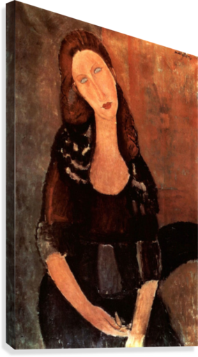 Modigliani - Portrait of Jeanne Hebuterne -3-  Canvas Print